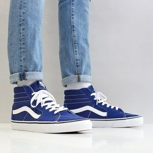 NWT VANS SK8-HI Estate Blue White W AUTHENTIC